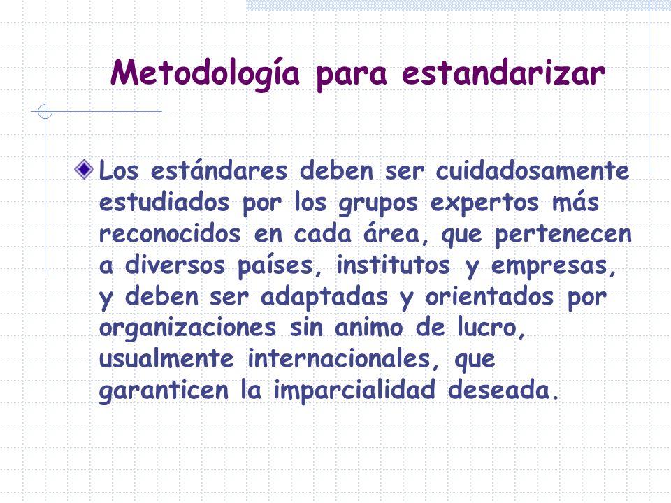 Metodología para estandarizar