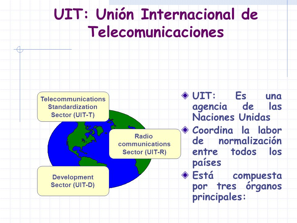UIT: Unión Internacional de Telecomunicaciones