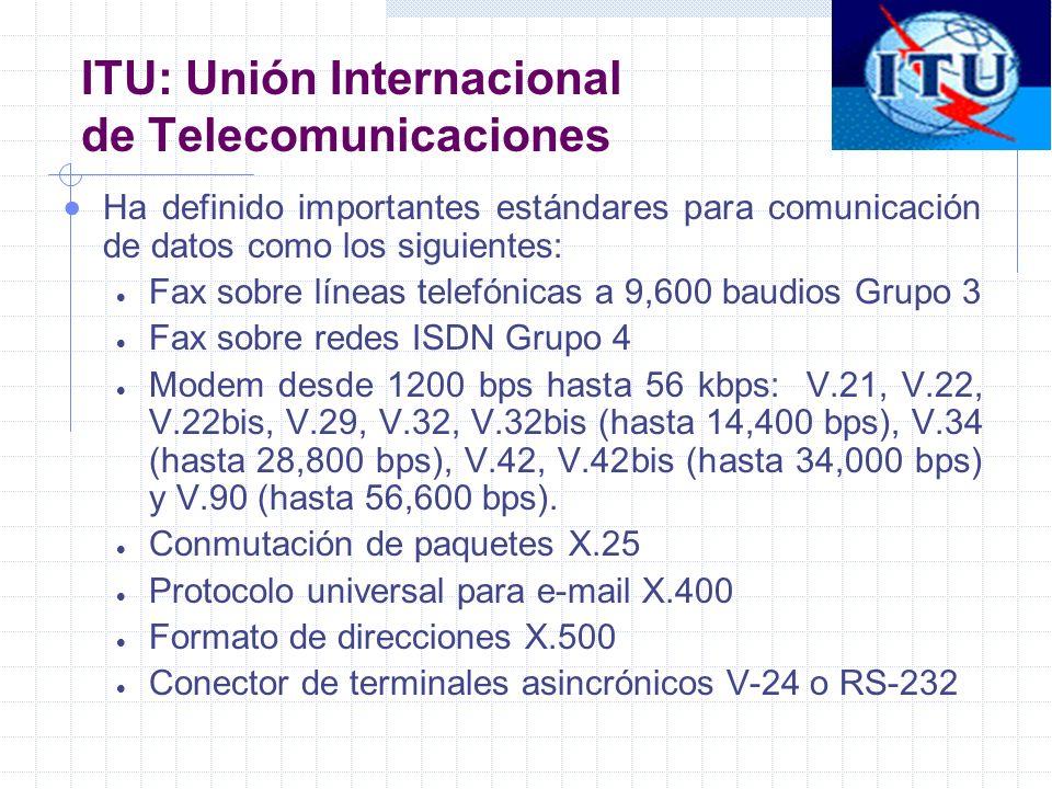 ITU: Unión Internacional de Telecomunicaciones