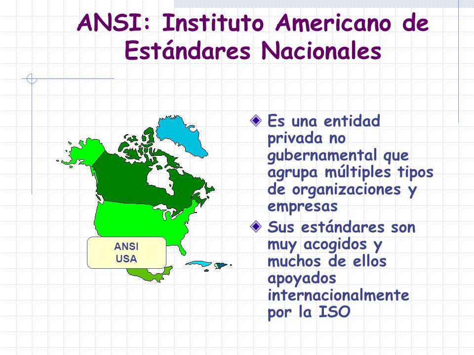 ANSI: Instituto Americano de Estándares Nacionales