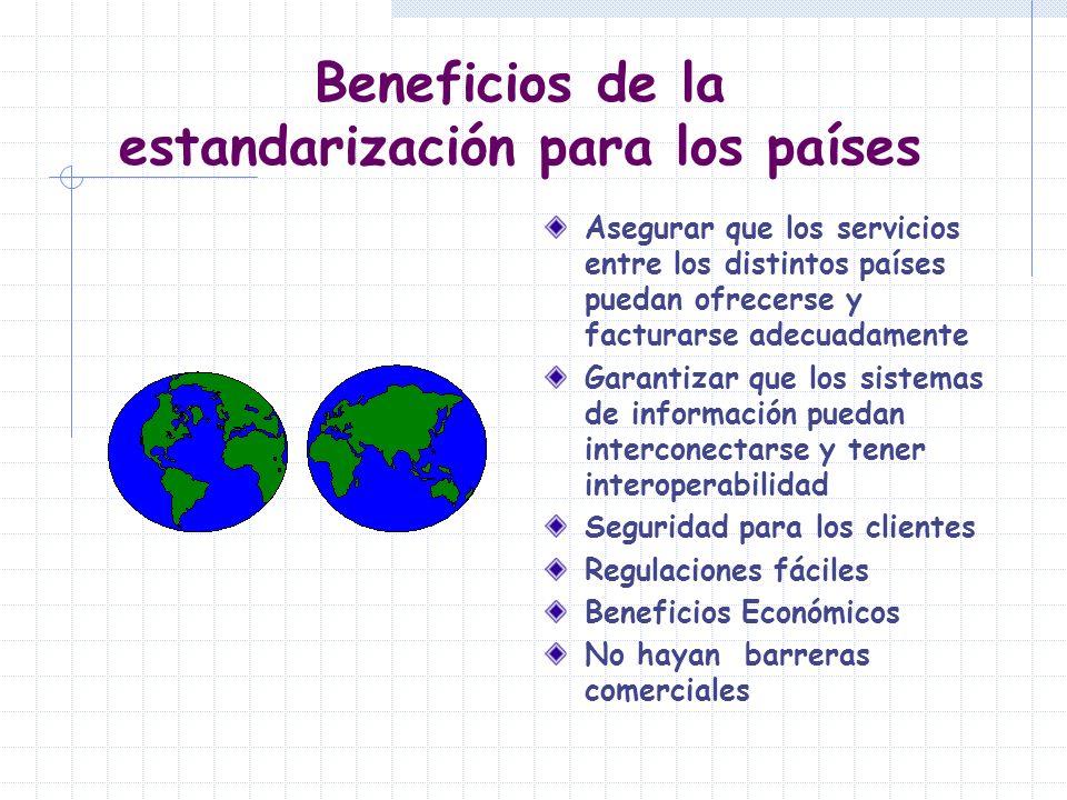 Beneficios de la estandarización para los países