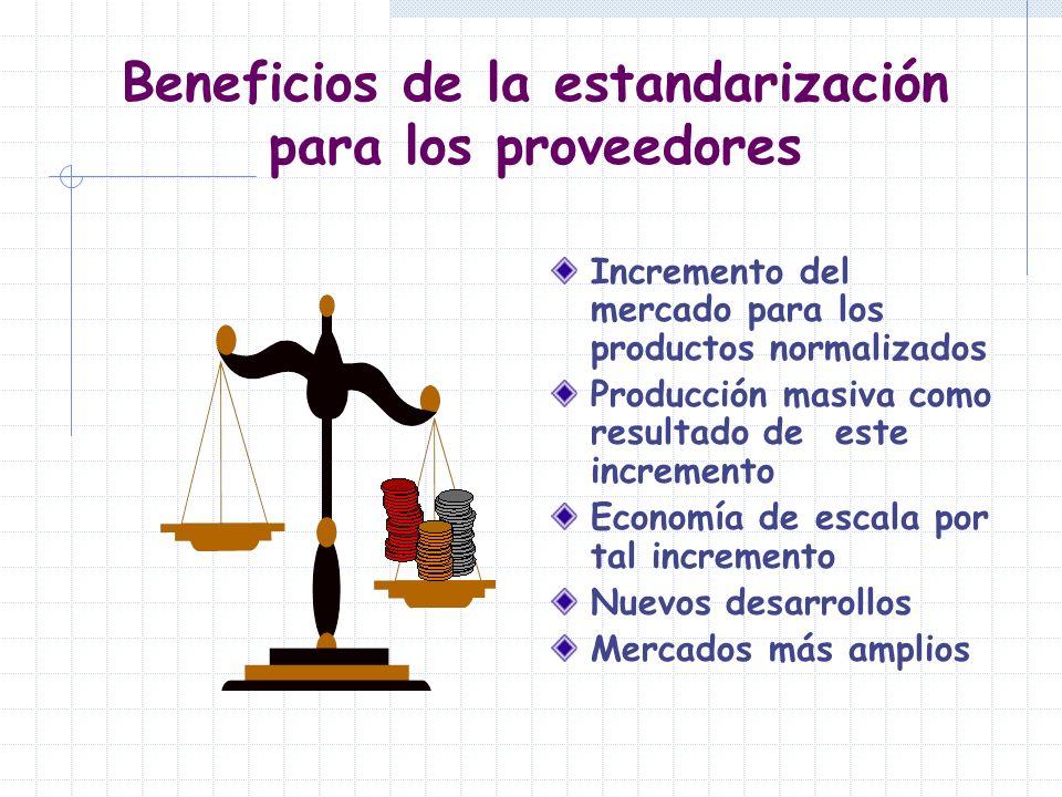 Beneficios de la estandarización para los proveedores