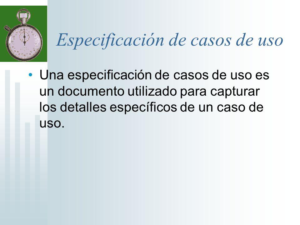 Especificación de casos de uso