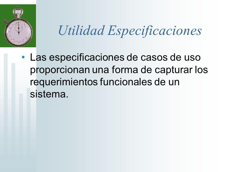 Utilidad Especificaciones