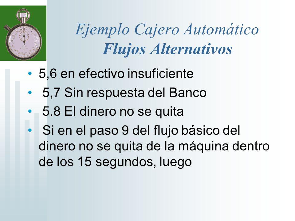 Ejemplo Cajero Automático Flujos Alternativos