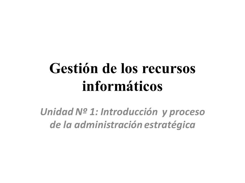 Gestión de los recursos informáticos