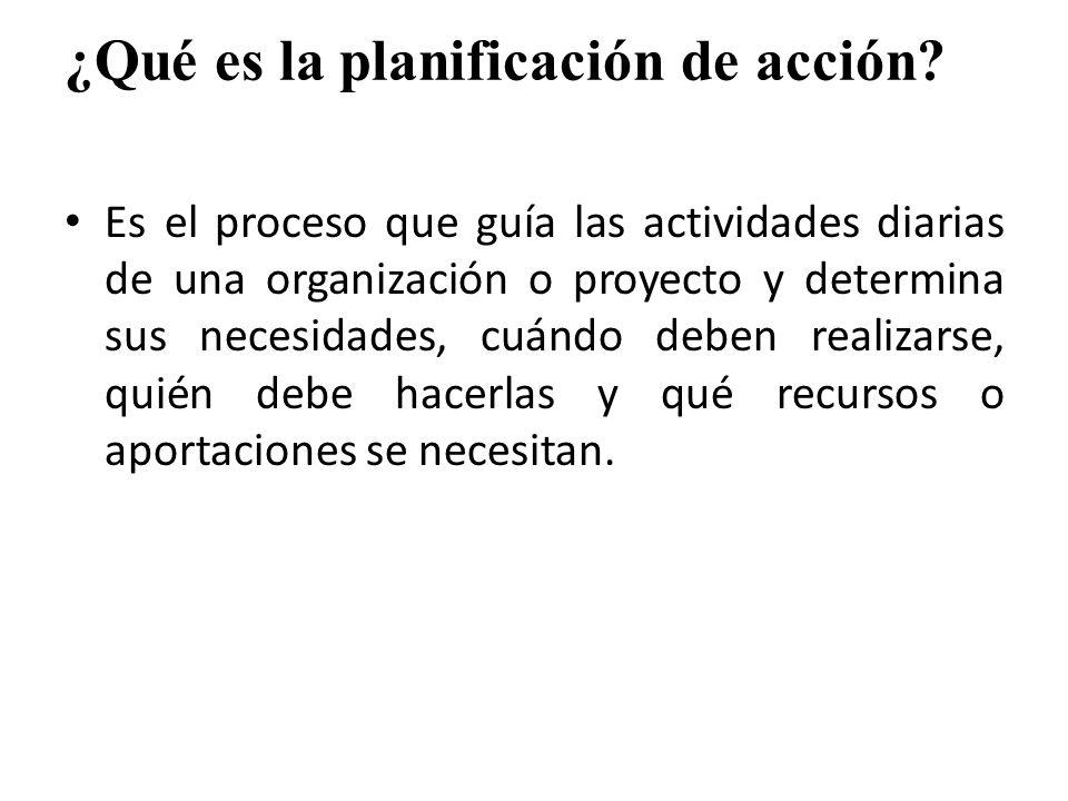 ¿Qué es la planificación de acción