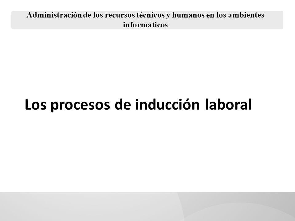 Los procesos de inducción laboral