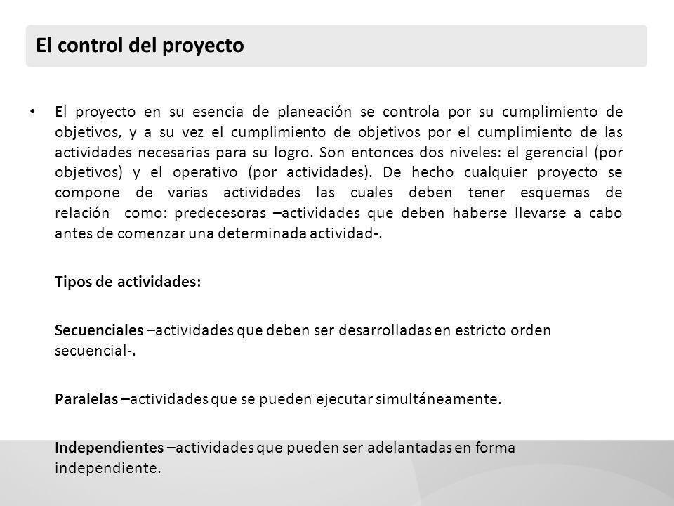 El control del proyecto