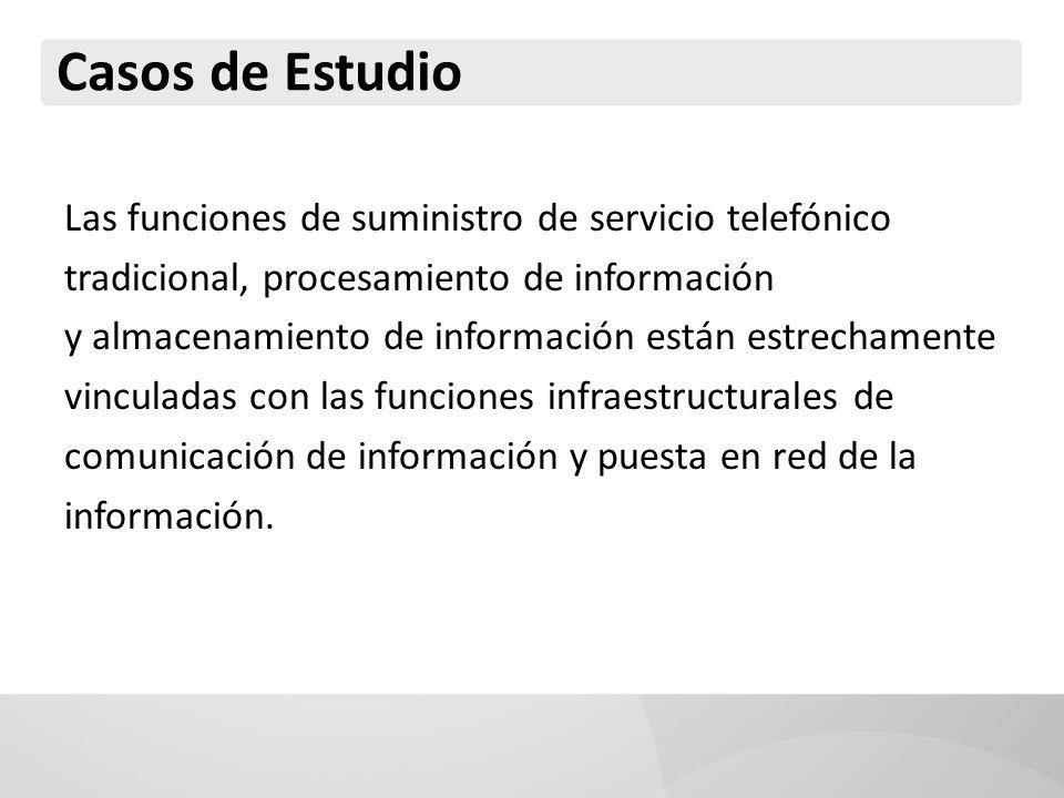 Casos de Estudio Las funciones de suministro de servicio telefónico