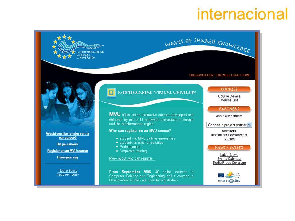 internacional Puede estar tambien en gestion interna, onlibe y distancia. 23