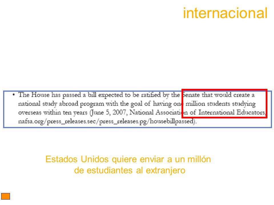 internacional Estados Unidos quiere enviar a un millón