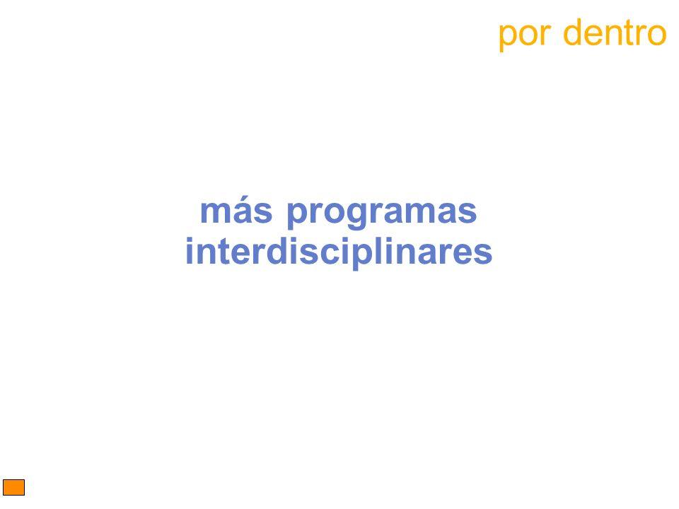 más programas interdisciplinares