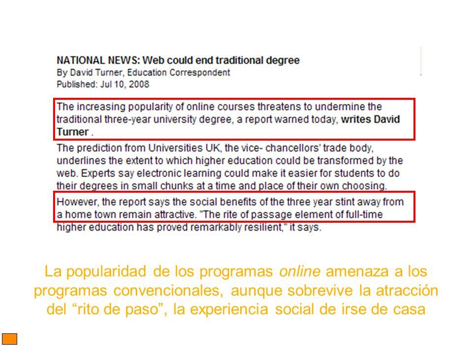 La popularidad de los programas online amenaza a los
