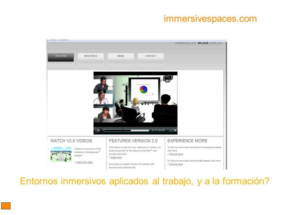 immersivespaces.com Entornos inmersivos aplicados al trabajo, y a la formación