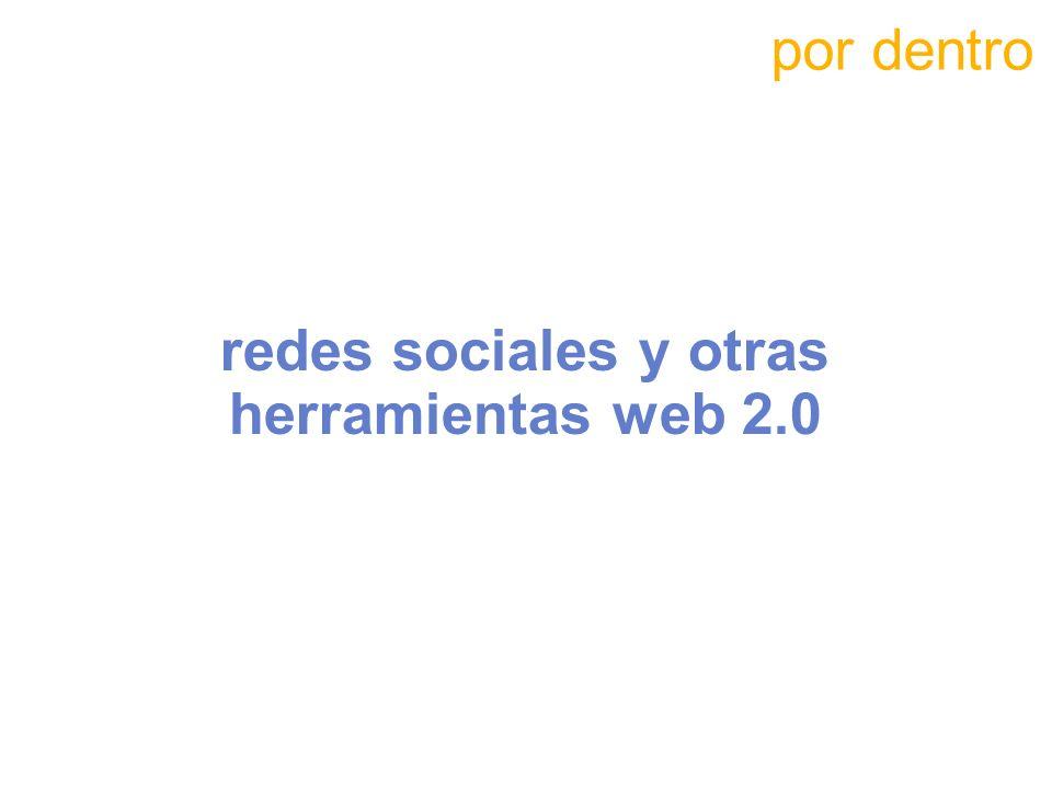 redes sociales y otras herramientas web 2.0