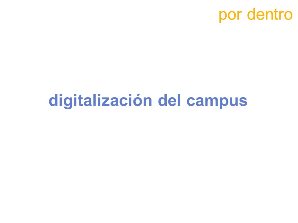 digitalización del campus
