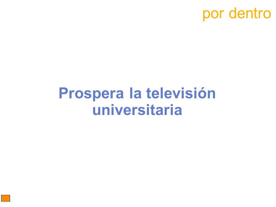 Prospera la televisión universitaria