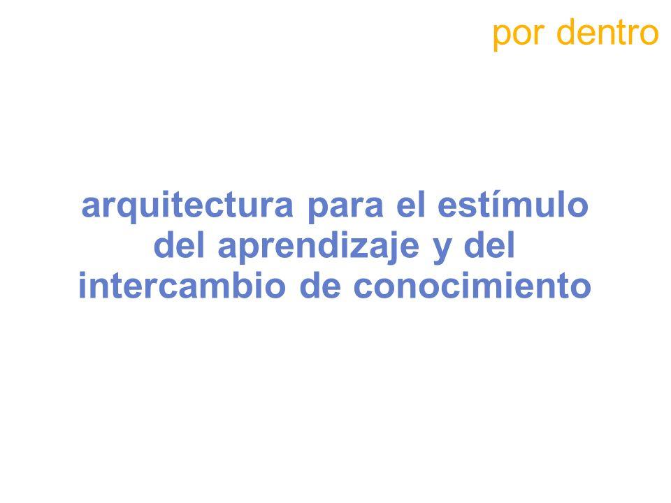 por dentro arquitectura para el estímulo del aprendizaje y del intercambio de conocimiento 80