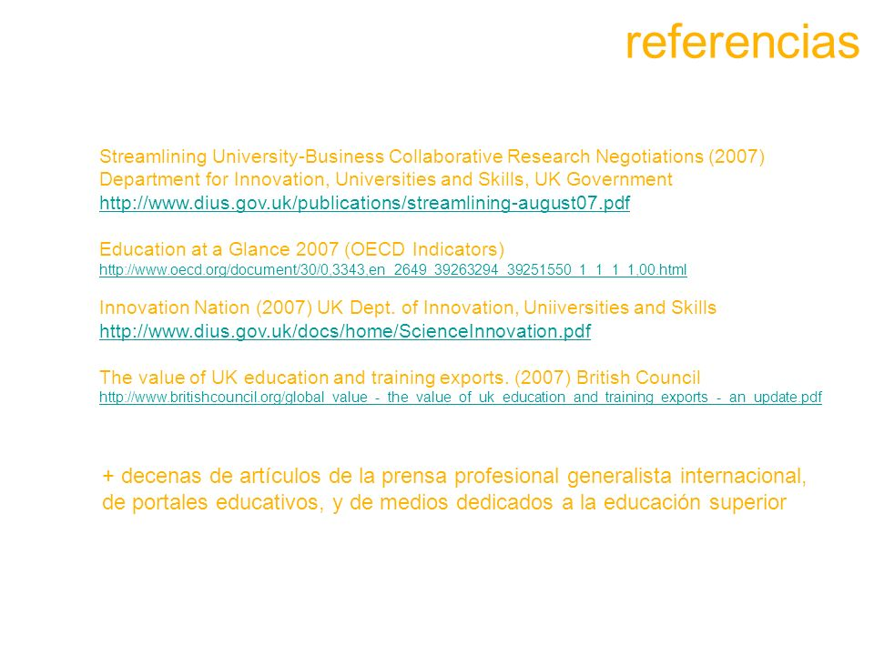 referenciasStreamlining University-Business Collaborative Research Negotiations (2007)