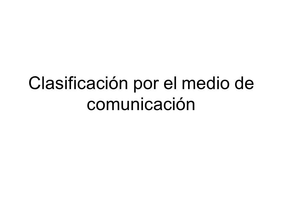Clasificación por el medio de comunicación
