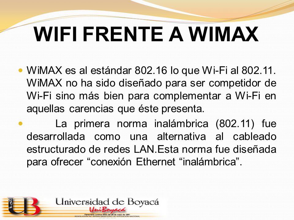 WIFI FRENTE A WIMAX