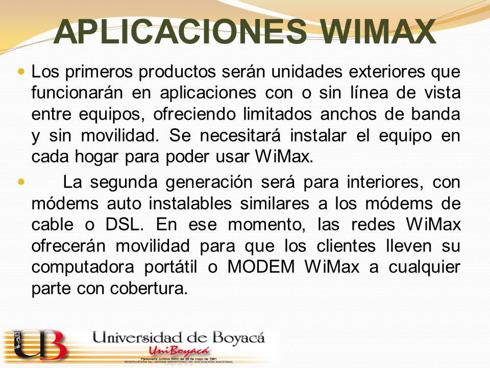 APLICACIONES WIMAX