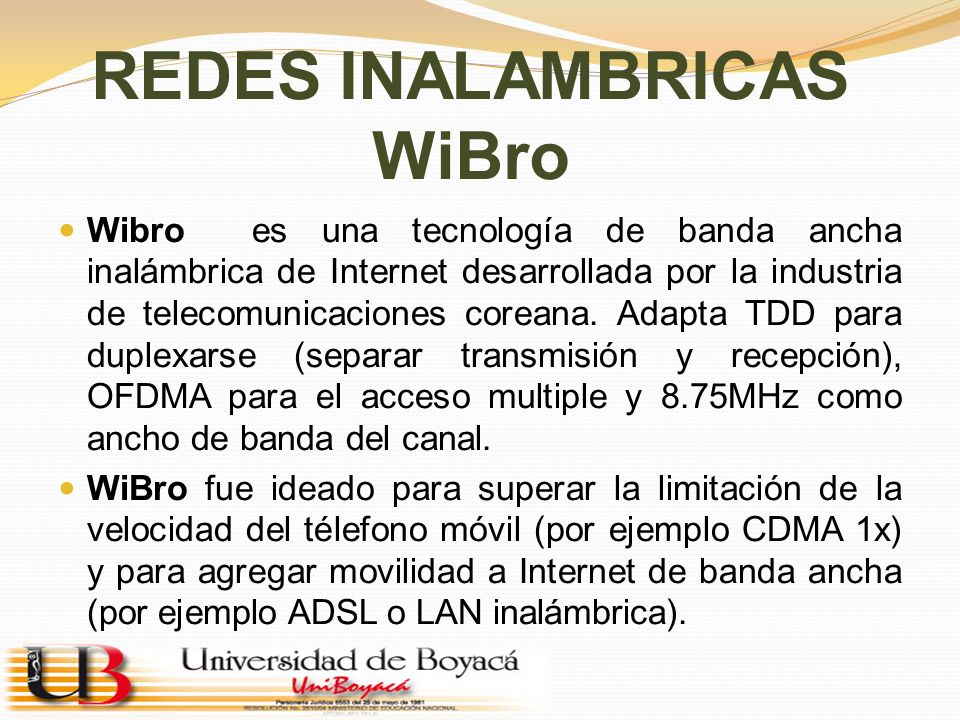 REDES INALAMBRICAS WiBro