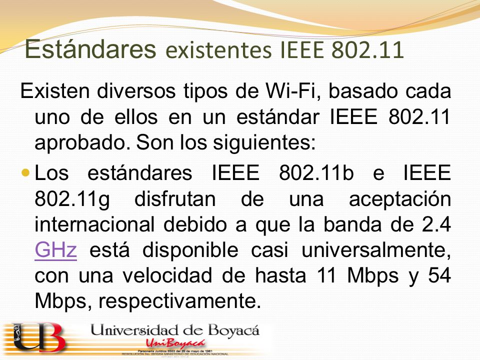 Estándares existentes IEEE 802.11