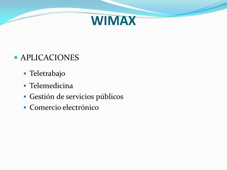 WIMAX APLICACIONES Teletrabajo Telemedicina
