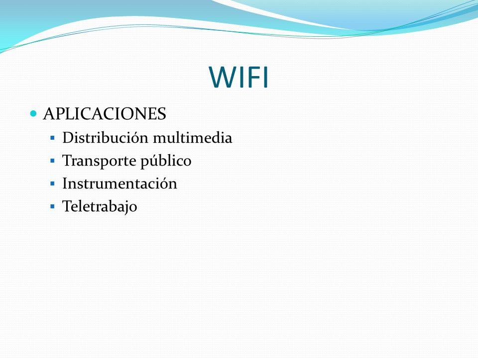 WIFI APLICACIONES Distribución multimedia Transporte público