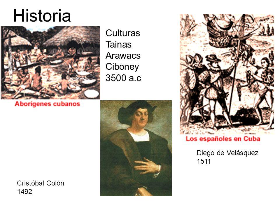 Historia Culturas Tainas Arawacs Ciboney 3500 a.c Diego de Velásquez