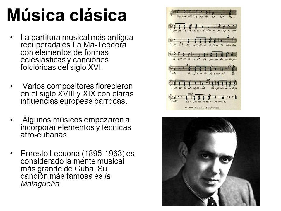 La s m sica s de cuba ppt video online descargar for Musica clasica para entrenar