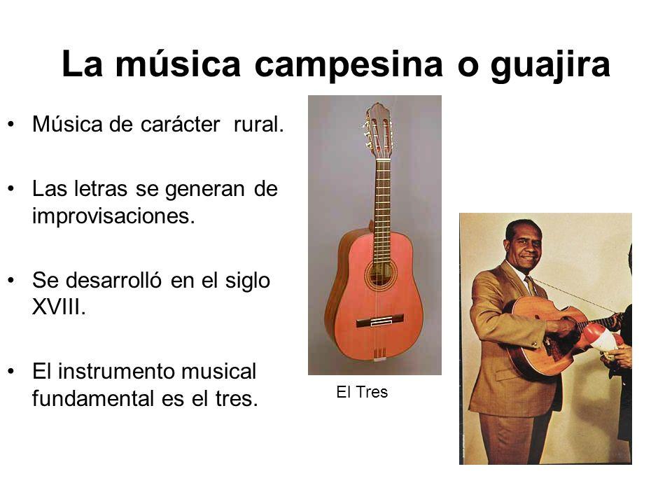 La música campesina o guajira