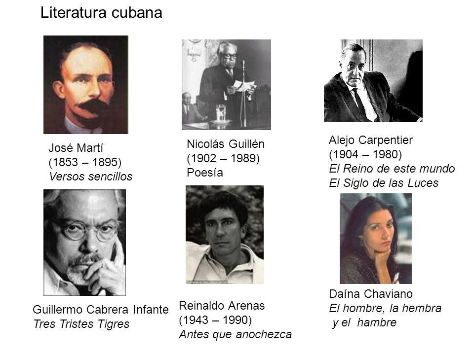 Literatura cubana Alejo Carpentier Nicolás Guillén José Martí