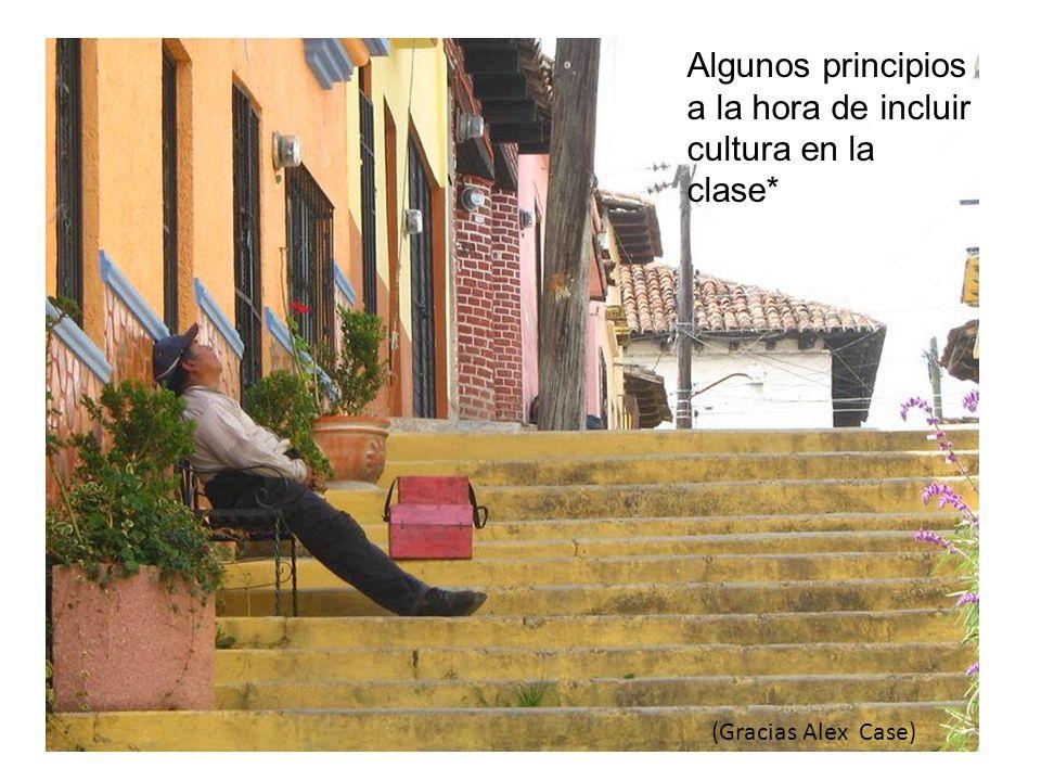 Algunos principios a la hora de incluir cultura en la clase*