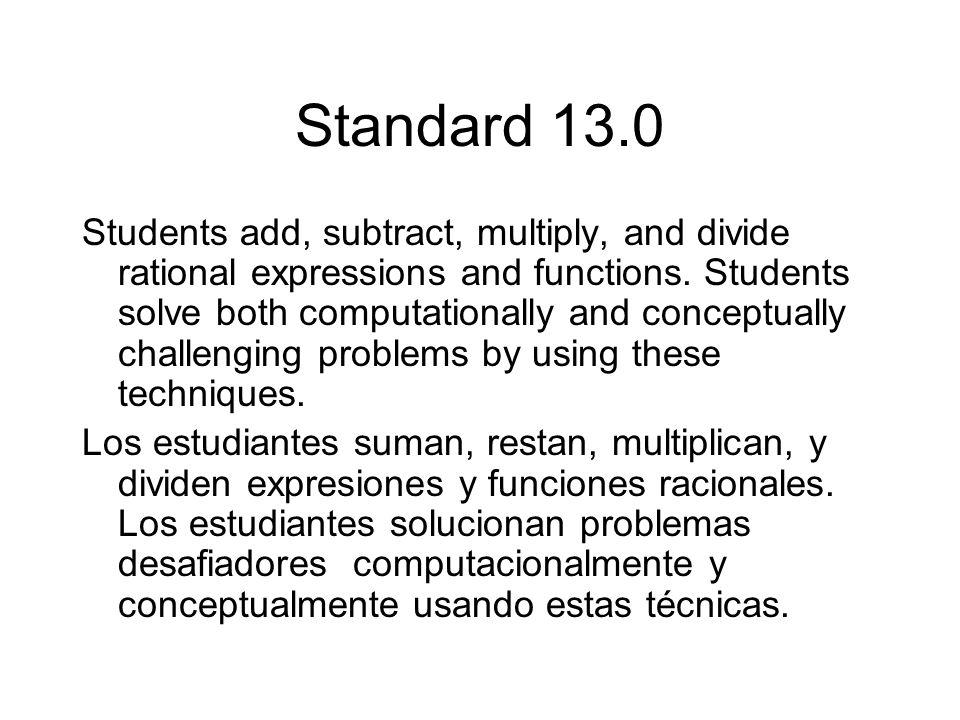 Standard 13.0