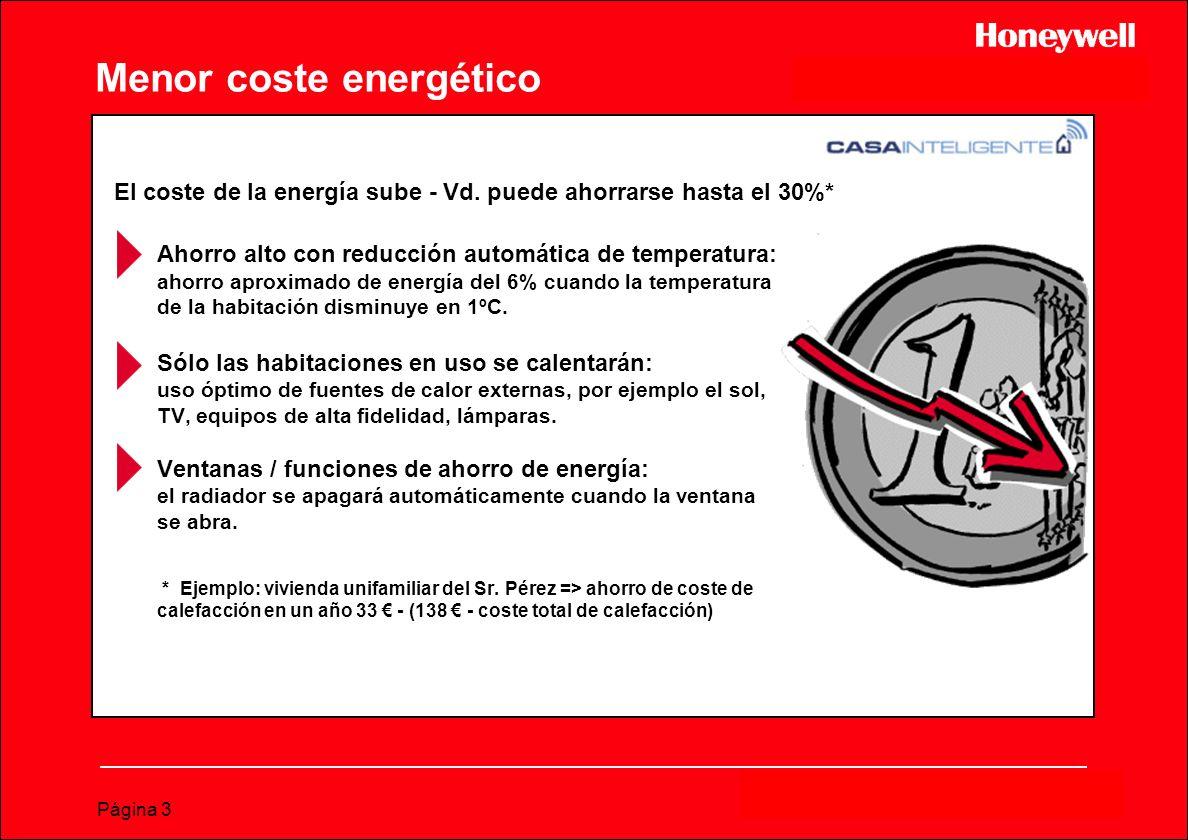 Menor coste energético