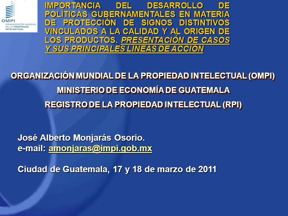 José Alberto Monjarás Osorio. e-mail: amonjaras@impi.gob.mx