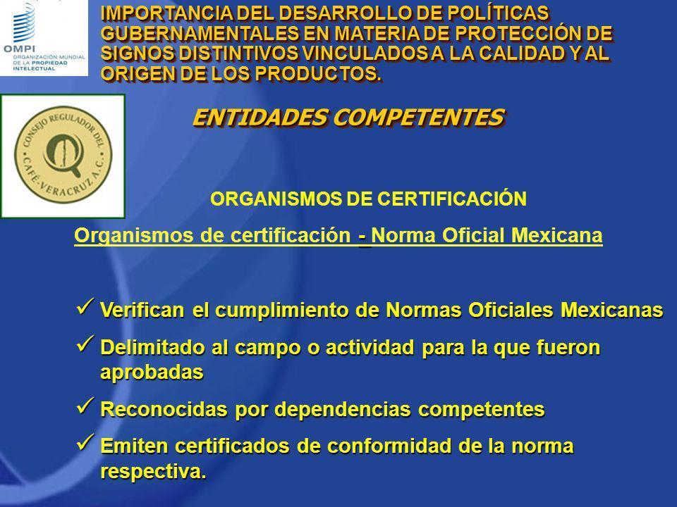 Organismos de certificación - Norma Oficial Mexicana