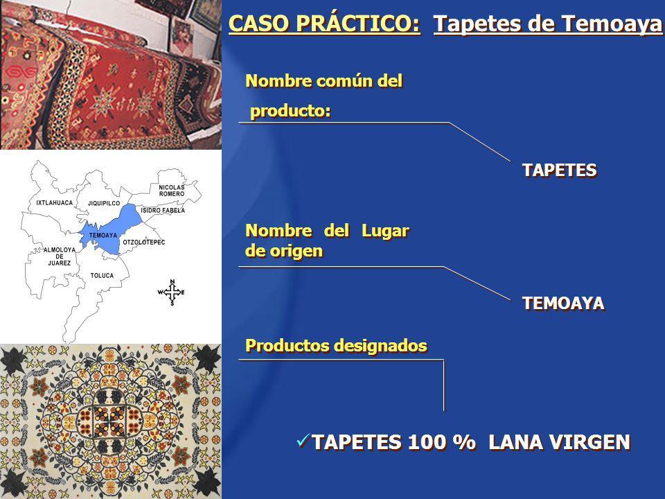 CASO PRÁCTICO: Tapetes de Temoaya TAPETES 100 % LANA VIRGEN