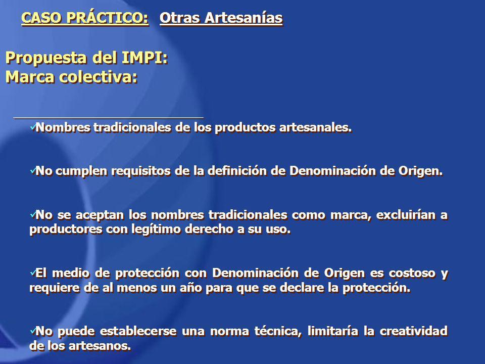 Propuesta del IMPI: Marca colectiva:
