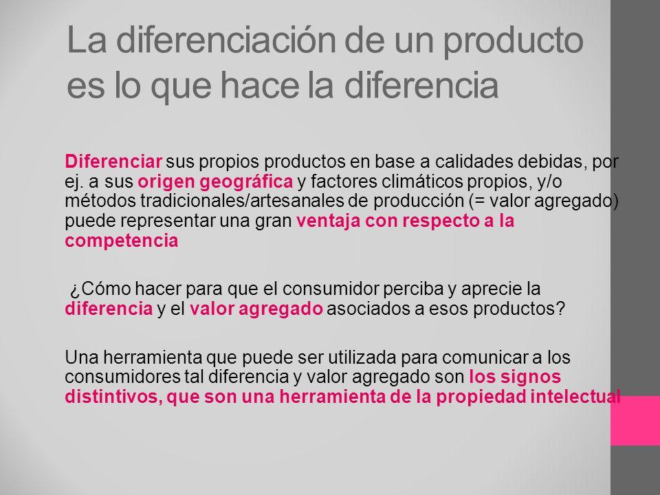 La diferenciación de un producto es lo que hace la diferencia
