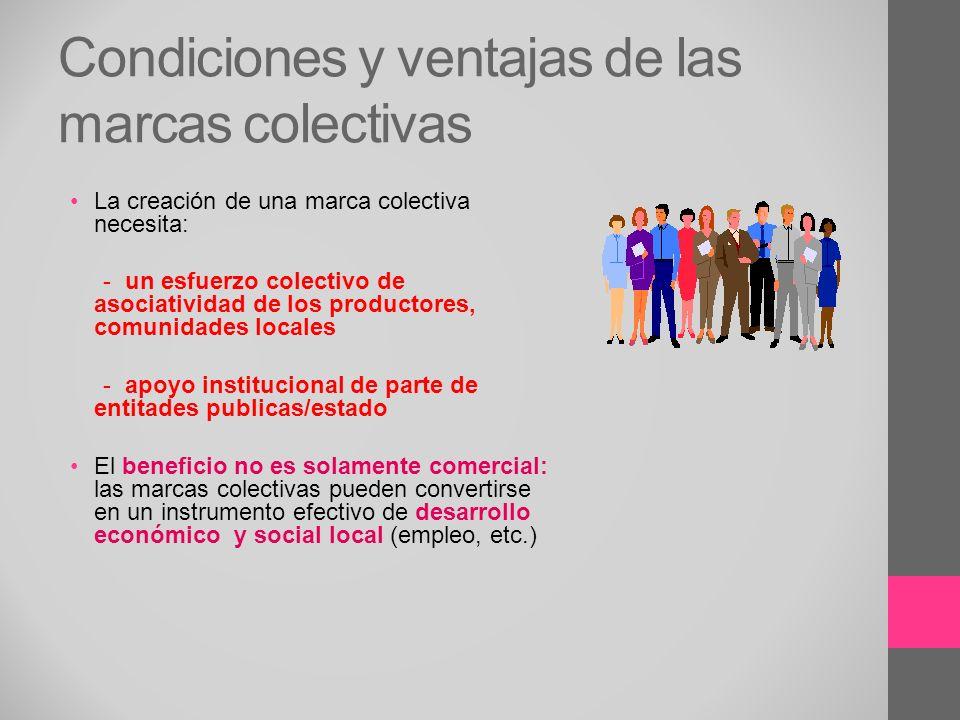 Condiciones y ventajas de las marcas colectivas
