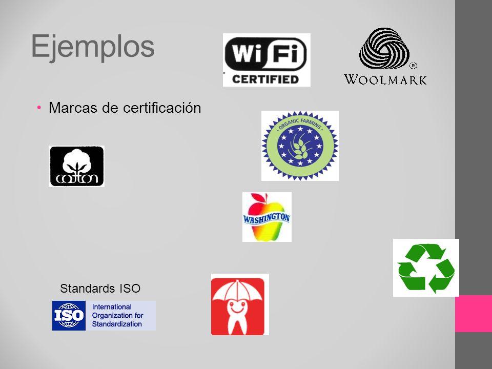 Ejemplos Marcas de certificación Standards ISO