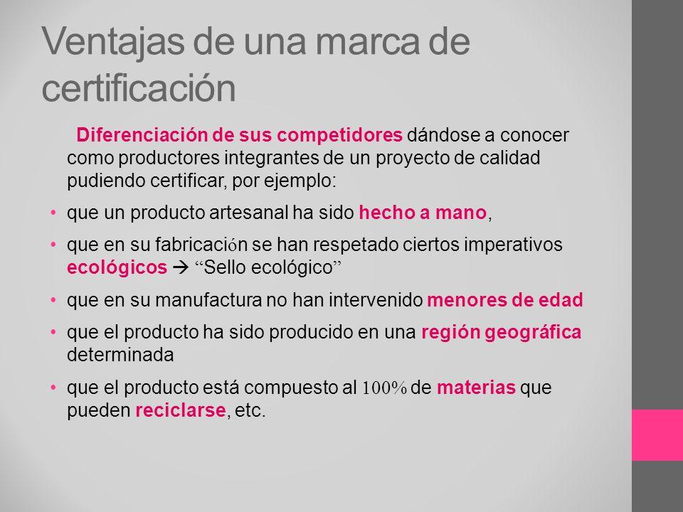 Ventajas de una marca de certificación