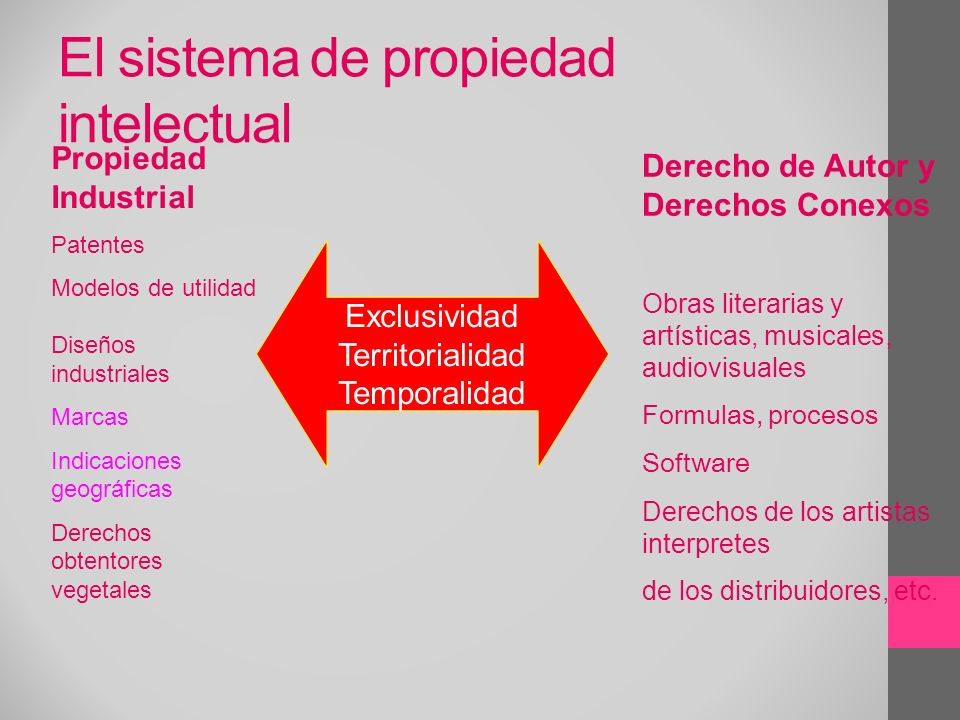 El sistema de propiedad intelectual