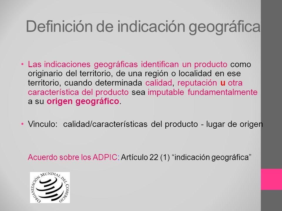 Definición de indicación geográfica