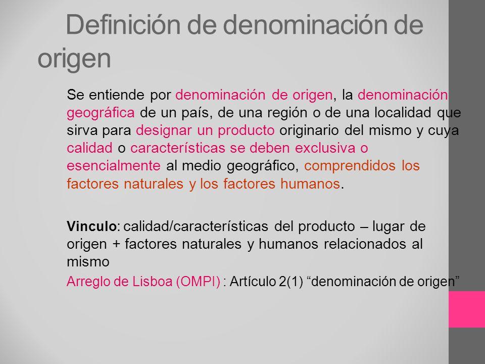 Definición de denominación de origen