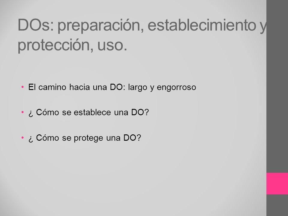 DOs: preparación, establecimiento y protección, uso.